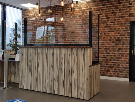 CGT Screens Provide Bespoke & Aesthetic Protection for Reception