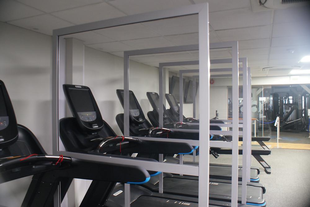 CGT Gym Screens In-Situ