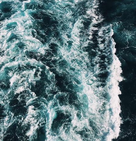 aufgewühltes Meereswasser