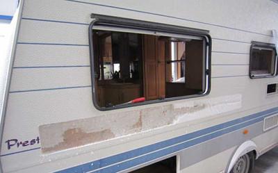 réparation côté caravane