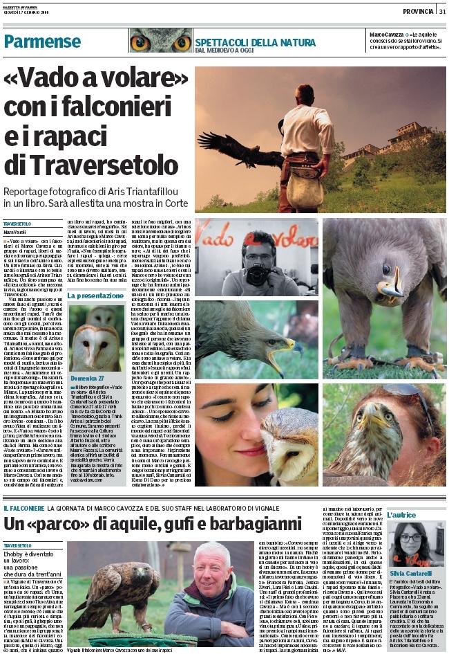 Articolo Gazzetta su VADO A VOLARE