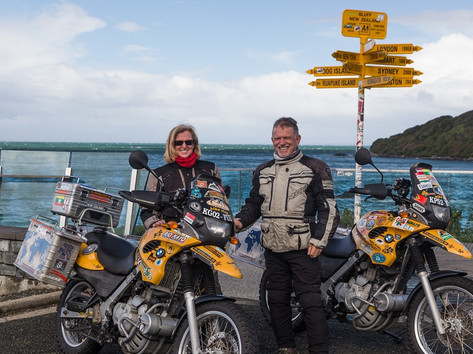Norman and Maggie Magowan's BMW F650GSs