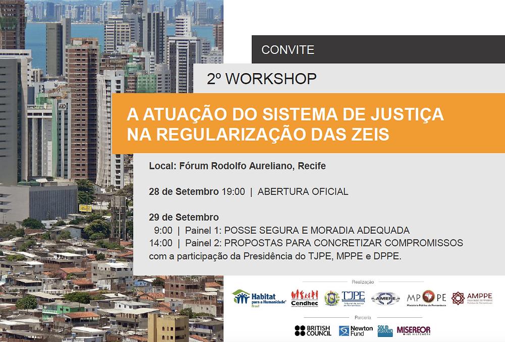 2º Workshop - sistema de justiça e regularização das ZEIS