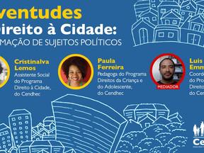 Em live, Cendhec lança livro Juventudes e Direito à Cidade: A formação de sujeitos políticos