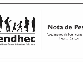 Nota de Pesar pelo falecimento da líder comunitária Heunar Santos