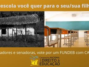 Senado Federal: A educação pública exige um FUNDEB com CAQ.