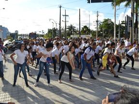 Marcha no Centro do Recife alertou sobre os riscos do trabalho infantil