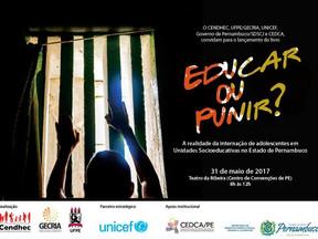 CENDHEC e GECRIA lançam livro: Educar ou Punir? A realidade da internação de adolescentes em unidade