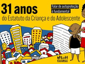 No aniversário do ECA, Cendhec lança livro sobre ensino da autoproteção para crianças