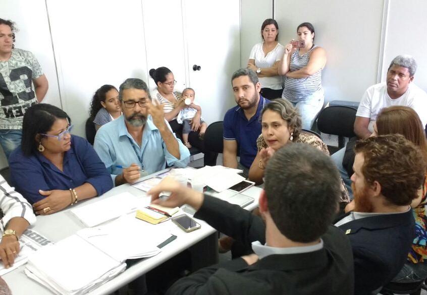 Reunião das comunidades com a PCR
