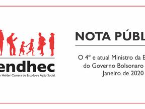 Nota Pública | O 4º e atual Ministro da Educação do Governo Bolsonaro desde Janeiro de 2020