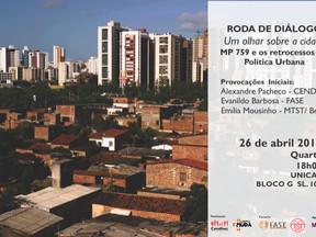 """O Cendhec e parceiros realizam a primeira roda de diálogo """"Um Olhar sobre a Cidade""""."""