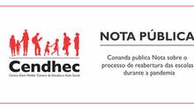 Conanda publica Nota sobre o processo de reabertura das escolas durante a pandemia