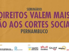 Recife sedia seminário da Campanha Direitos Valem Mais título