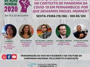 Seminário virtual discute direito à educação e desigualdades no contexto de pandemia em Pernambuco