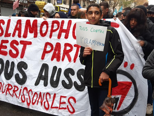 Demonstration against Islamophobia in Paris, 10 November 2019