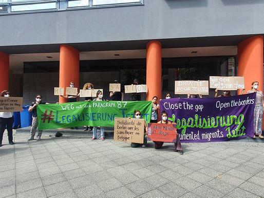 Solidarity with migrant hunger strikers in Belgium