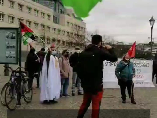 Video from the Rally for Western Sahara, 28 November 2020