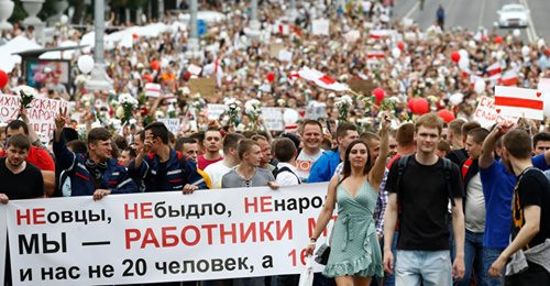 Belarusians stare down dictatorship for a second week