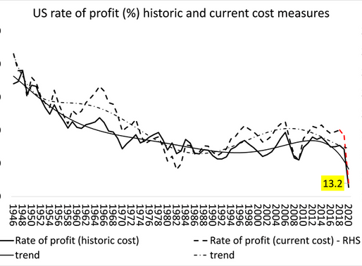 The US rate of profit before the COVID