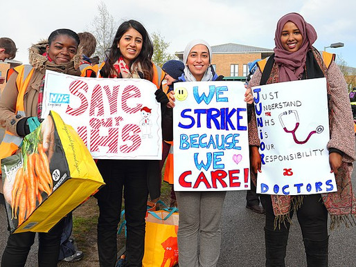 Building support for the NHS pay battle