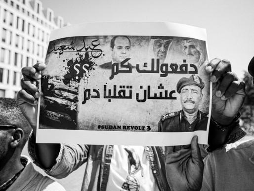 Photo gallery - 16 February 2019 - demonstrating for Sudan