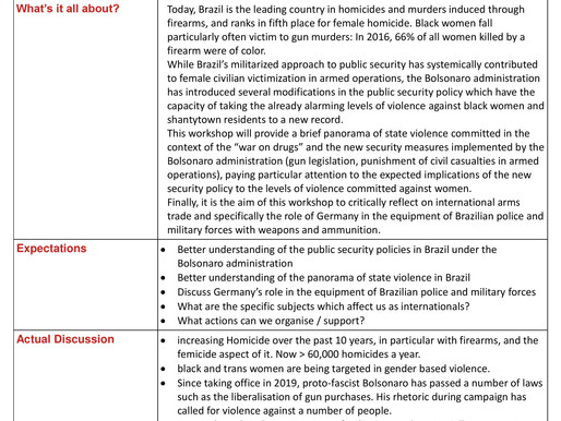 Bolsonaro, militarization and violence against women