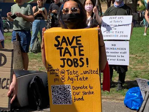Tate staff strike for art jobs