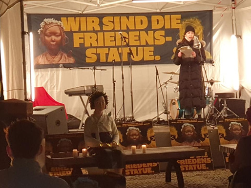 Photo Gallery: 25 November 2020 - Wir sind die Friedensstatue, Gendarmenmarkt