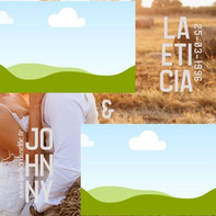 Laeticia et Johnny 10 x10 THEME CHAMPETRE