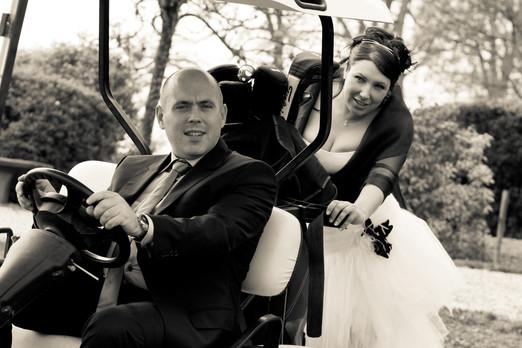 Photos de Mariages, Photos de couples, voiturette golf