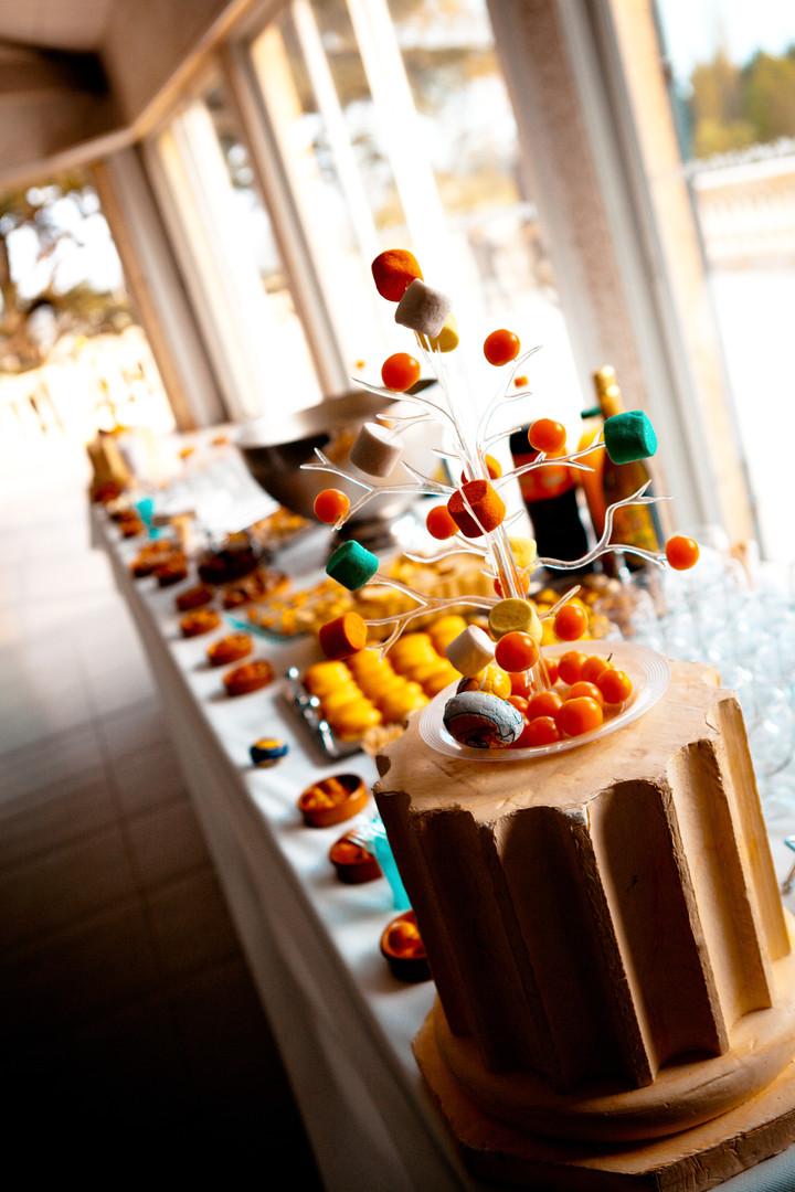 Photos de Mariages, Photos du vin d'honneur la table la piece montee