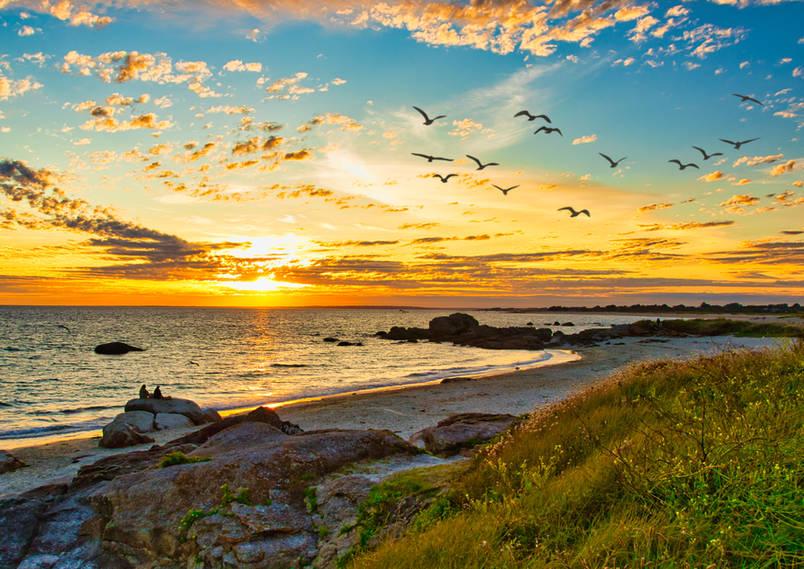 Paysages,_nature,__coucher de soleil pointe de trévignon