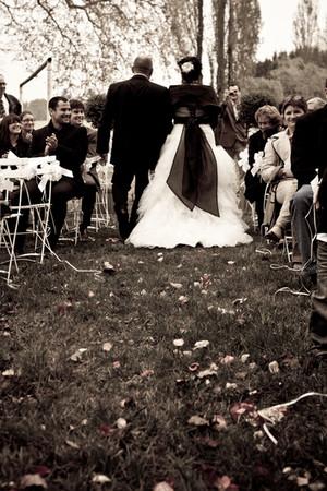 Photos de Mariages, Photo de la cérémonie marche exterieure