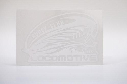Наклейка на автомобиль (белый логотип)