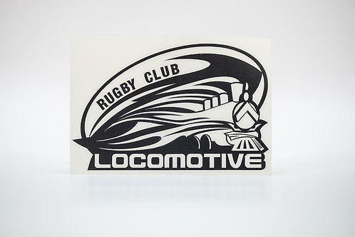 Наклейка на автомобиль (чёрный логотип)