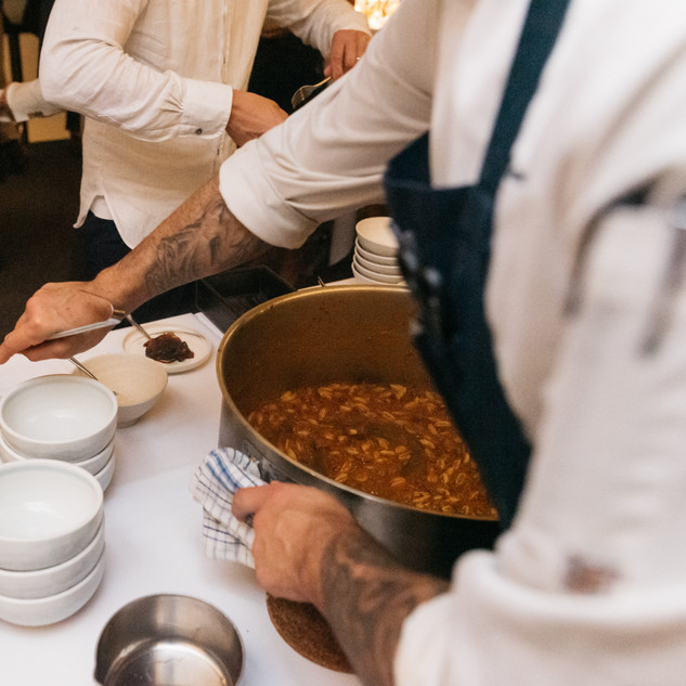 Bolognese ragout being personaly served by our chefs
