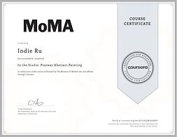 Moma certificate Indie Ru