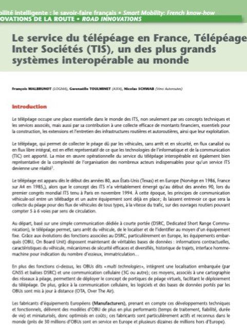 Le télépéage en France