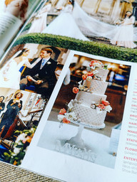 One of our cakes featured in 'The Wedding' magazine.