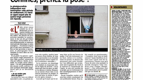 Article la Republique du centre David Templier Confinement