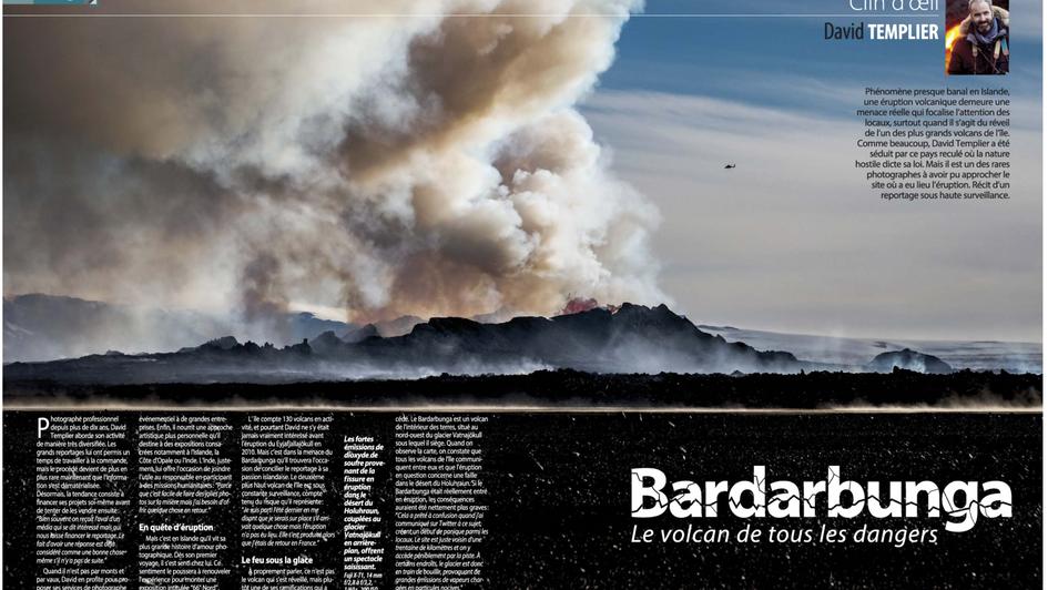 Article Chasseur d'images expedition eruption volcan holuhraun islande David Templier