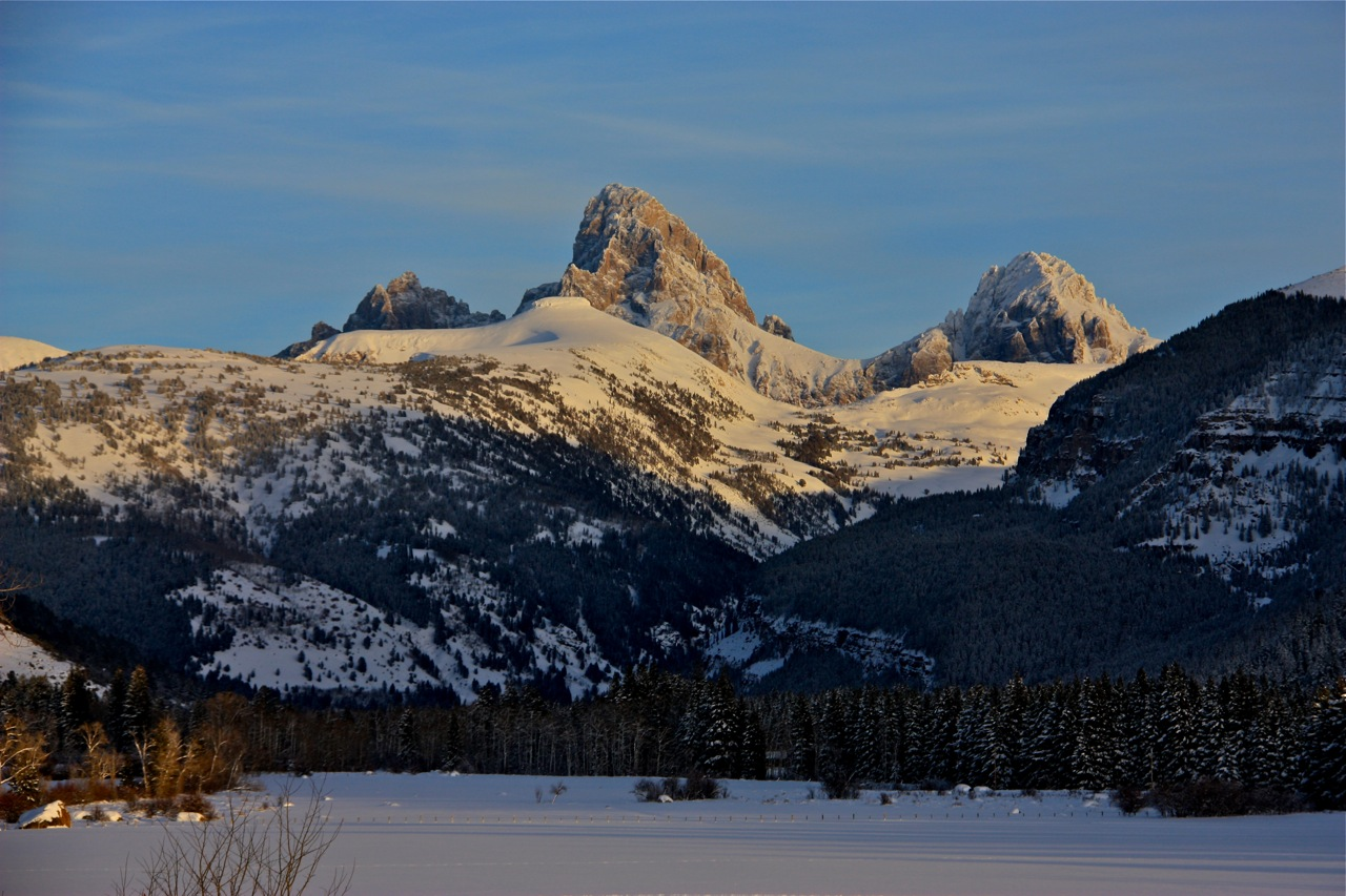 Tetons Covered with Snow