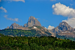 Close Up of Tetons in Summer