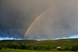 Double Rainbow Over Barn