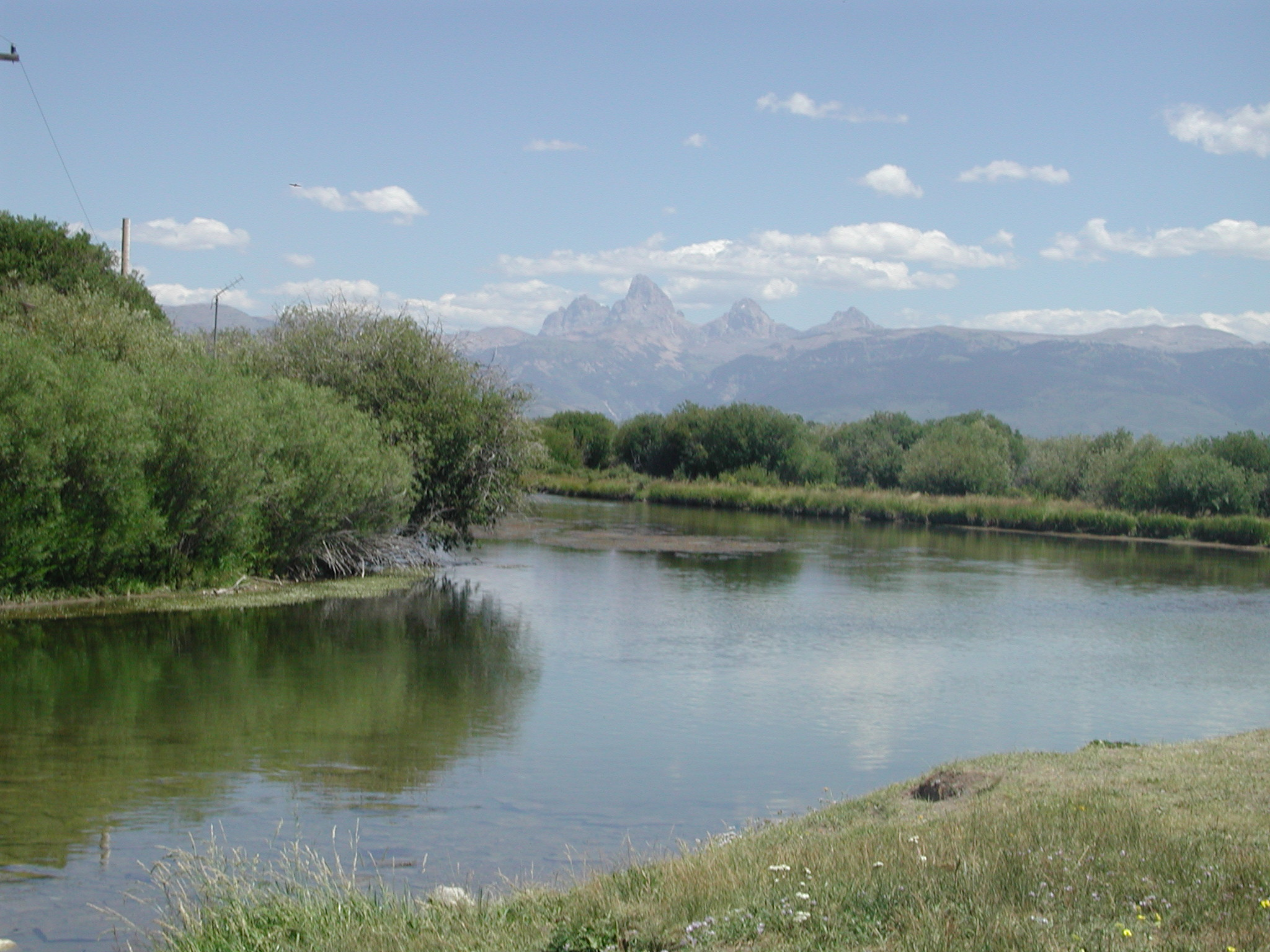Teton River and Tetons