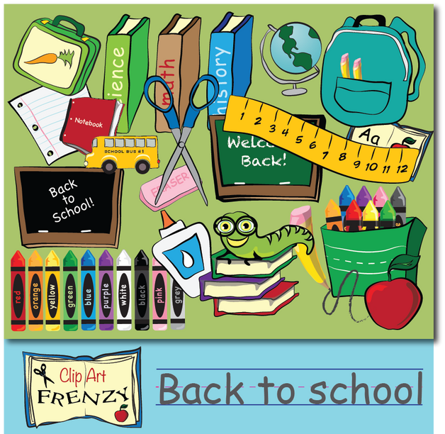 Clip Art Feenzy - Back to School