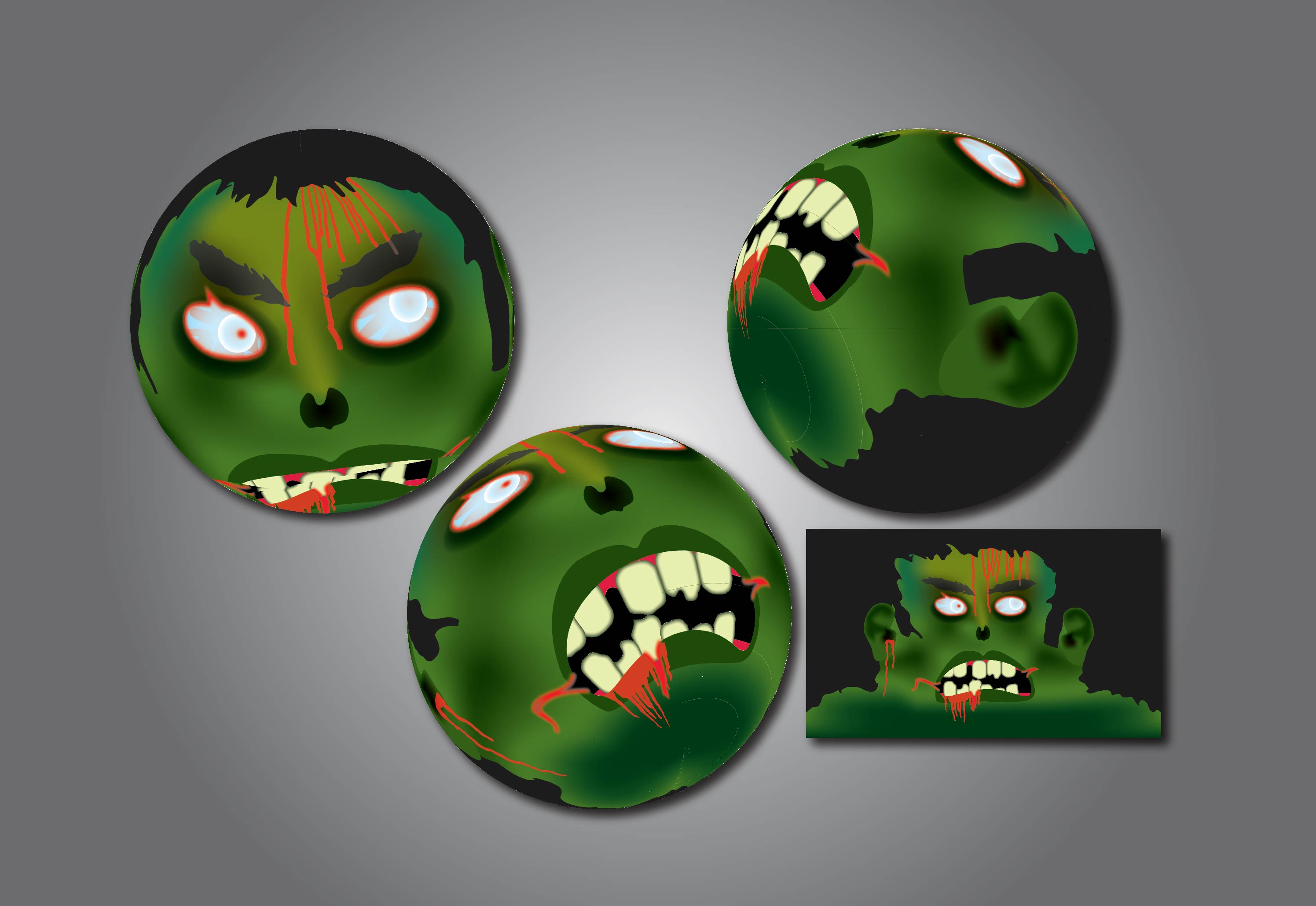 Zombie ball designs