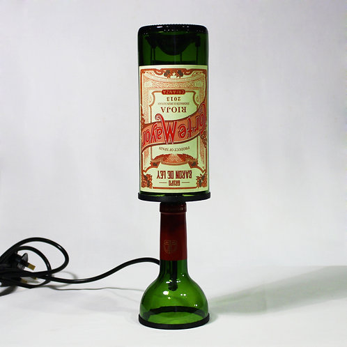Red Wine Bottle Lamp