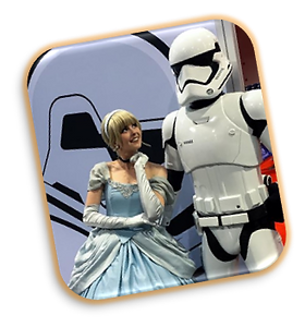 Star Wars Storm Trooper and Cinderella